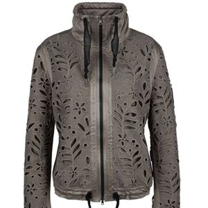 Marc Cain Lace Taupe Zip Up Jacket